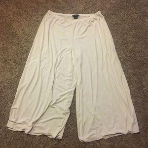 Ivory/Light Cream Culotte Style Pants